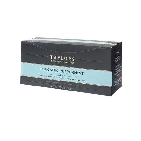 Taylors of Harrogate Organic Peppermint thé, 100 sachets de thé