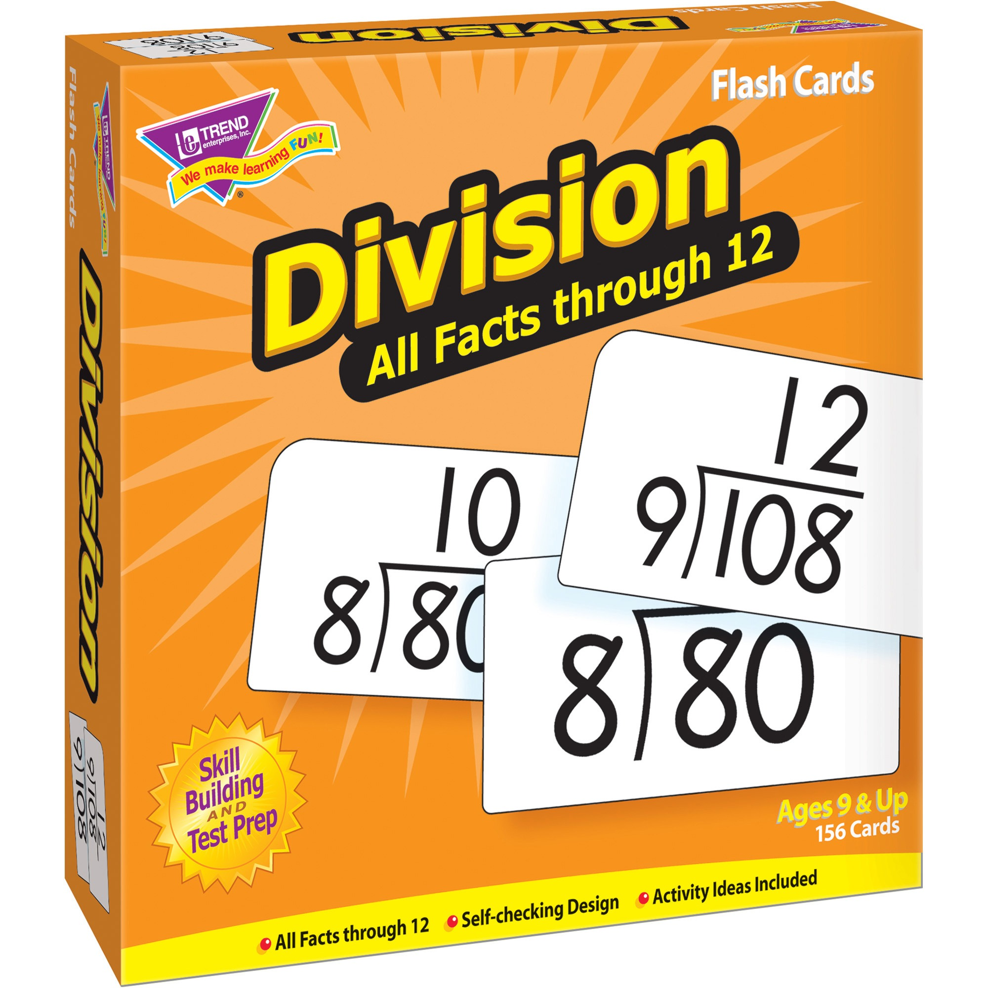 Trend Division all facts through 12 Flash Cards