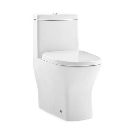 Swiss Madison Sublime II Compact Dual-Flush Toilet with Side Holes (Seat Included)