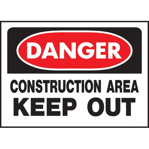 Hy-Ko Danger Construction Sign (Set of 5)