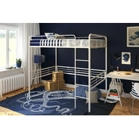 DHP Full Metal Loft Bed, Multiple Sizes and Colors