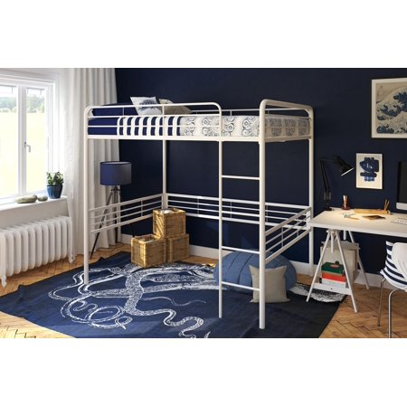 Loft 5 Light Chandelier - DHP Full Metal Loft Bed, Multiple Sizes and Colors