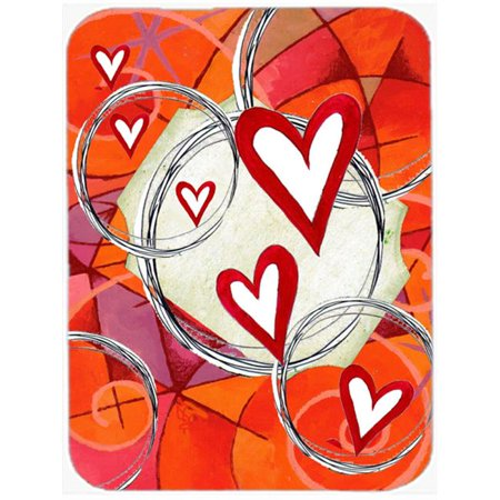 Circle Of Love Valentines Day Glass Cutting Board, Large - image 1 de 1