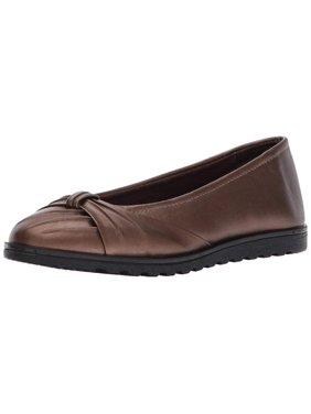 Easy Street Womens Giddy Ll Closed Toe Slide Flats