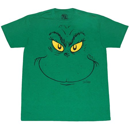 Dr. Seuss Grinch Face Youth T-Shirt - Dr Seuss Clothing For Kids
