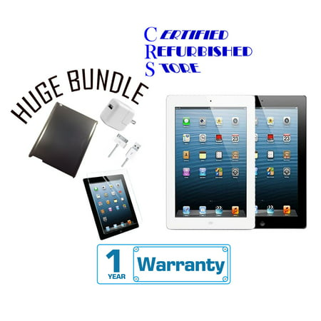 - Apple iPad 2 16GB,32GB,64GB - Wifi - (Certified Open Box) with 1-Year Warranty | Bundle includes iPad Case & Tempered Glass