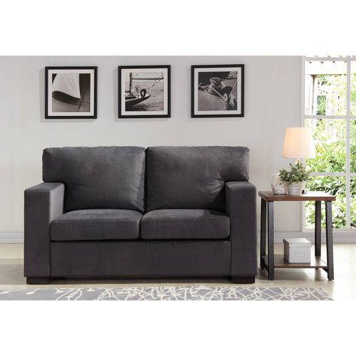 Better Homes and Gardens Oxford Square Loveseat, Charcoal