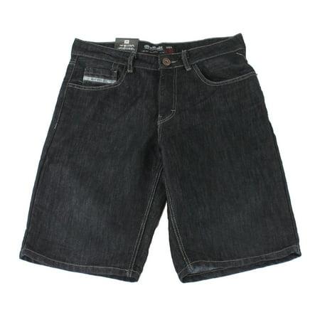 Logo Cotton Shorts - Mens Blue Denim Relaxed Logo Printed Shorts $48 50