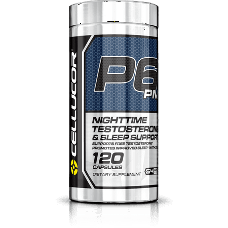 Cellucor P6 PM Testosterone Booster & Sleep Aid Supplement for Men, Maximize Free Testosterone Levels, Improve Night Time Rest & Muscle Recovery, 120 (Best Testosterone Supplements For Men Over 40)