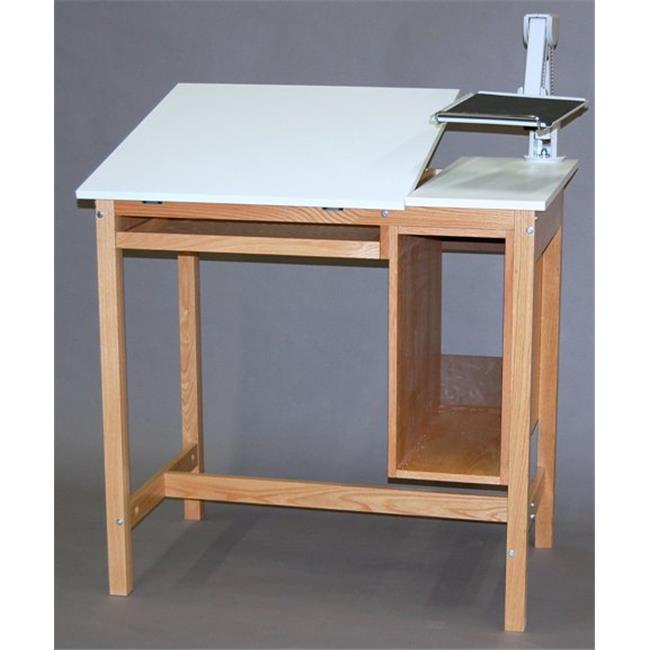 SMI F3042-CTK Natural Oak Finish Computer Station Without Drawers, 30 X42 in.