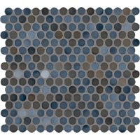 MSI Penny Round Azul 11.3 in. x 12.2 in. x 6 mm Porcelain Mesh-Mounted Mosaic Tile (14.36 sq. ft. / case)