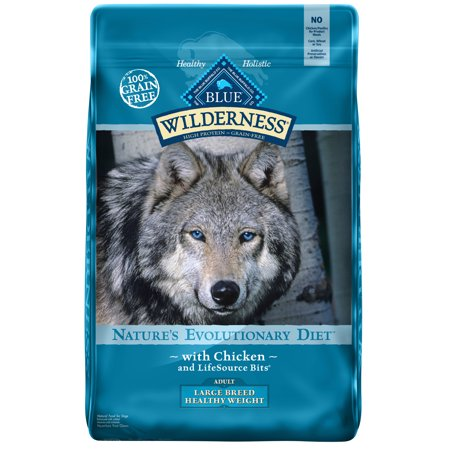 Blue Buffalo Wilderness High Protein Grain Free, Natural Adult Large Breed Healthy Weight Dry Dog Food, Chicken