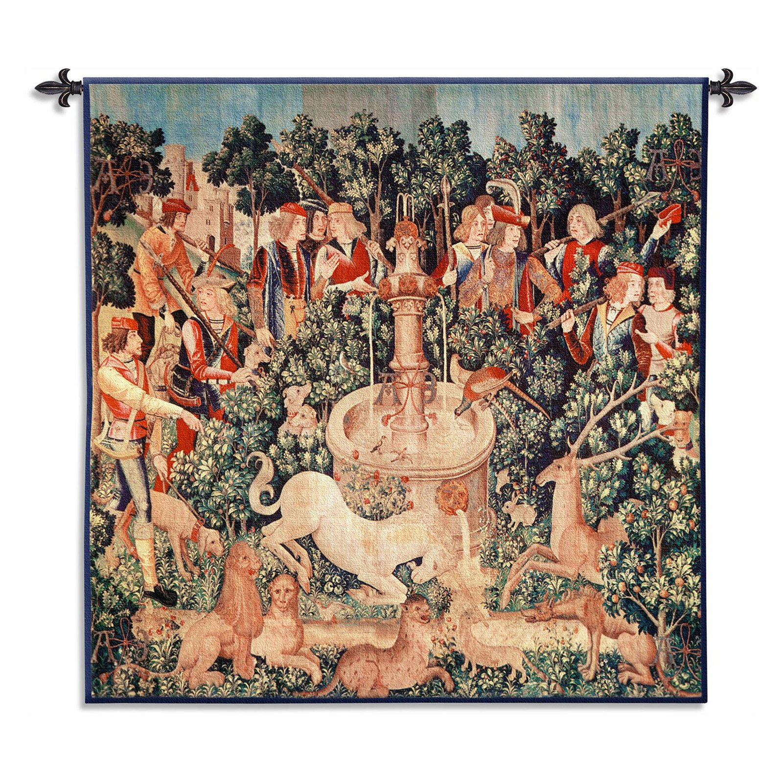 FineArtTapestries 2931-WH The Unicorn is Found Wall Tapestry