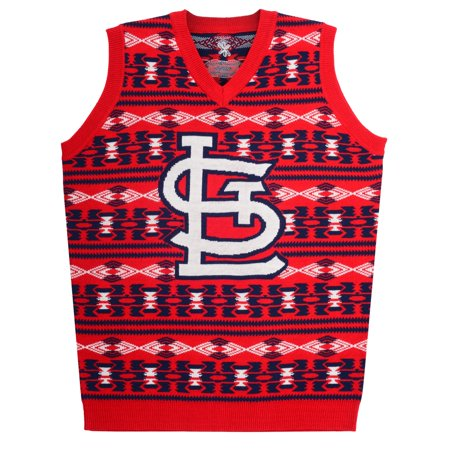 "St. Louis Cardinals MLB Mens ""Aztec Print"" Ugly Sweater Vest by"