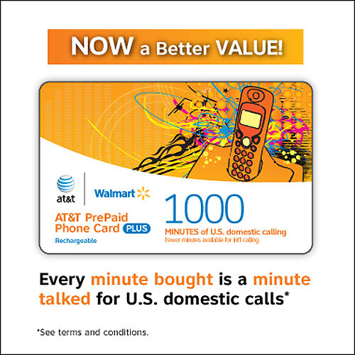 att prepaid 1000 min walmartcom - International Calling Cards Online