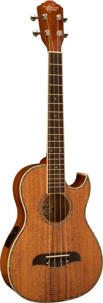 Oscar Schmidt Acoustic Electric Baritone Ukulele, All Koa, Grover Tuners, OU55CE by Oscar Schmidt