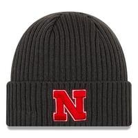 Nebraska Cornhuskers New Era Core Classic Cuffed Knit Hat - Gray - OSFA