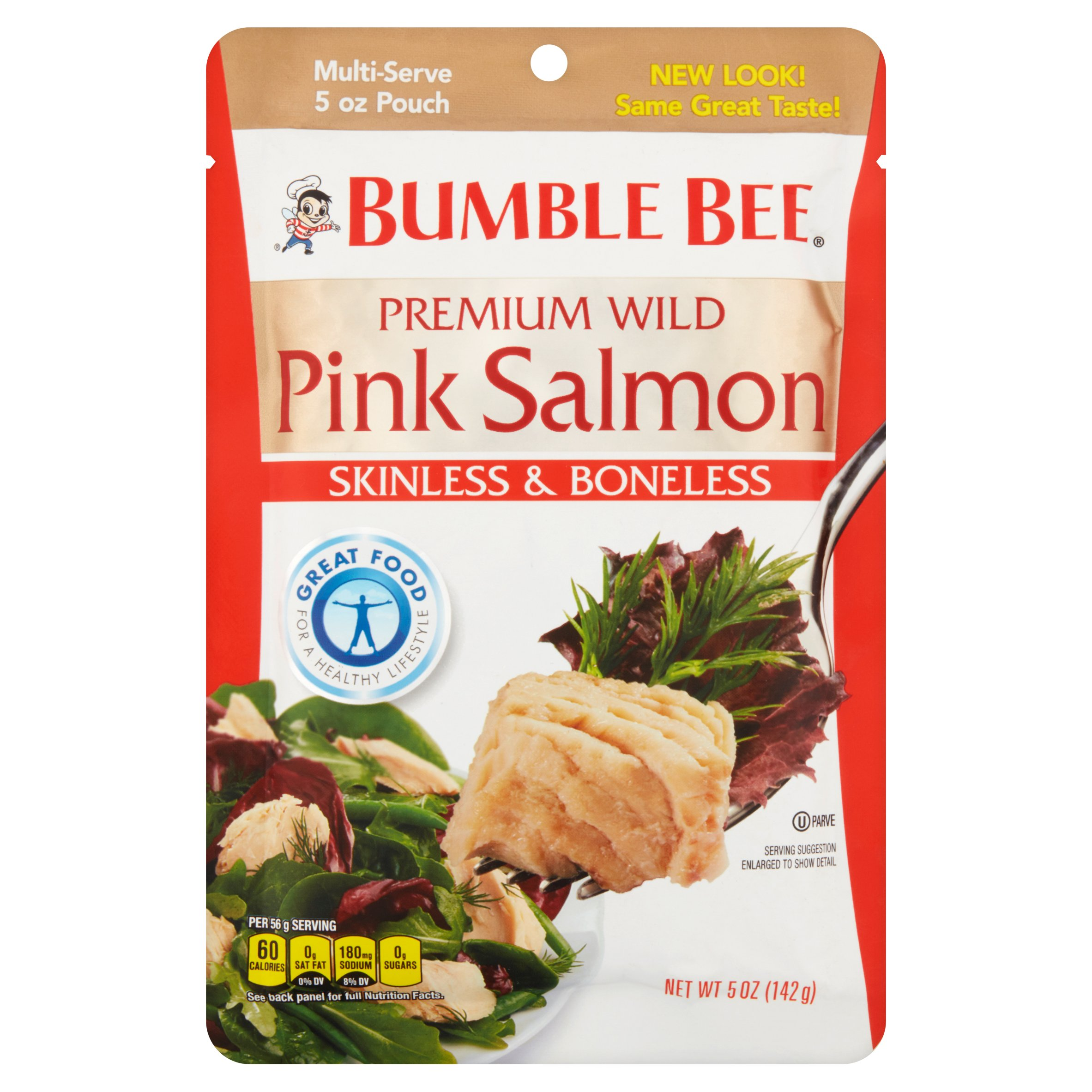 Bumble Bee Skinless & Boneless Premium Wild Pink Salmon, 5 oz by Bumble Bee Saefoods