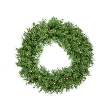 36 Pre-Lit Northern Frasier Fir Artificial Christmas Wreath - Clear Lights
