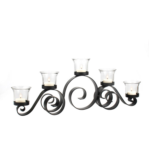 Better Homes and Gardens Flat Iron Scroll Candelabra, Oil-Rubbed Bronze