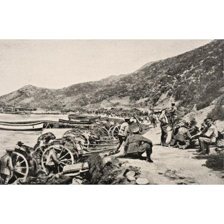 Album Tie - Posterazzi Australian Troops On Anzac Cove Gallipoli Peninsula Turkey 1915 From The War Illustrated Album Deluxe Published London 1916 Canvas Art - Ken Welsh  Design Pics (36 x 22)