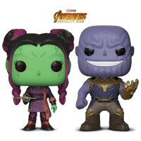 Warp Gadgets Bundle - Funko Pop Marvel Infinity War - Young Gamora W/ Dagg and Thanos (2 Items)