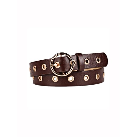 Women's Studded Grommet Holes Leather Belt - Toddler Studded Belt