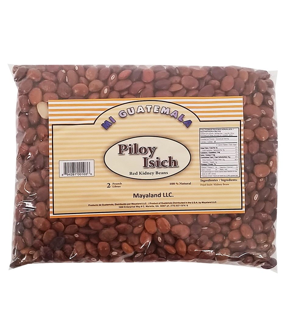 Mi Guatemala Yellow Kidney Beans 2 Lb - Frijol Isich (Pack of 6)