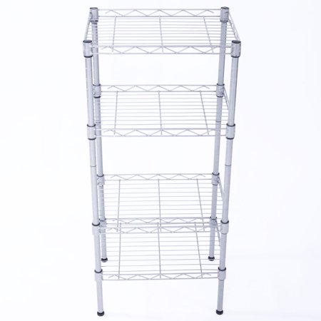 Zimtown 4 Tier Shelves Wire Shelving Rack Shelf Adjustable Unit Garage Kitchen Storage (Adjustable Wire Shelving)