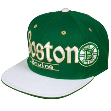 Boston Bruins NHL Reebok Flat Hat Cap Green Irish Clover St Patrick's Shamrock Reebok Boston Bruins Face