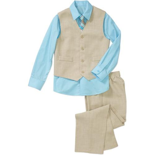 George Boys' 4 Piece Shirt, Pants, Vest and Tie Set