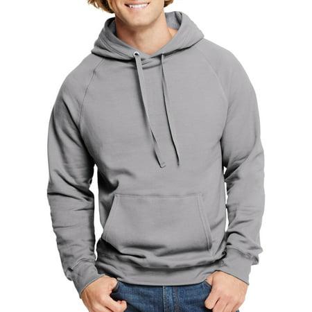 Denim Fleece Pullover - Hanes Men's Nano Premium Soft Lightweight Fleece Pullover Hood
