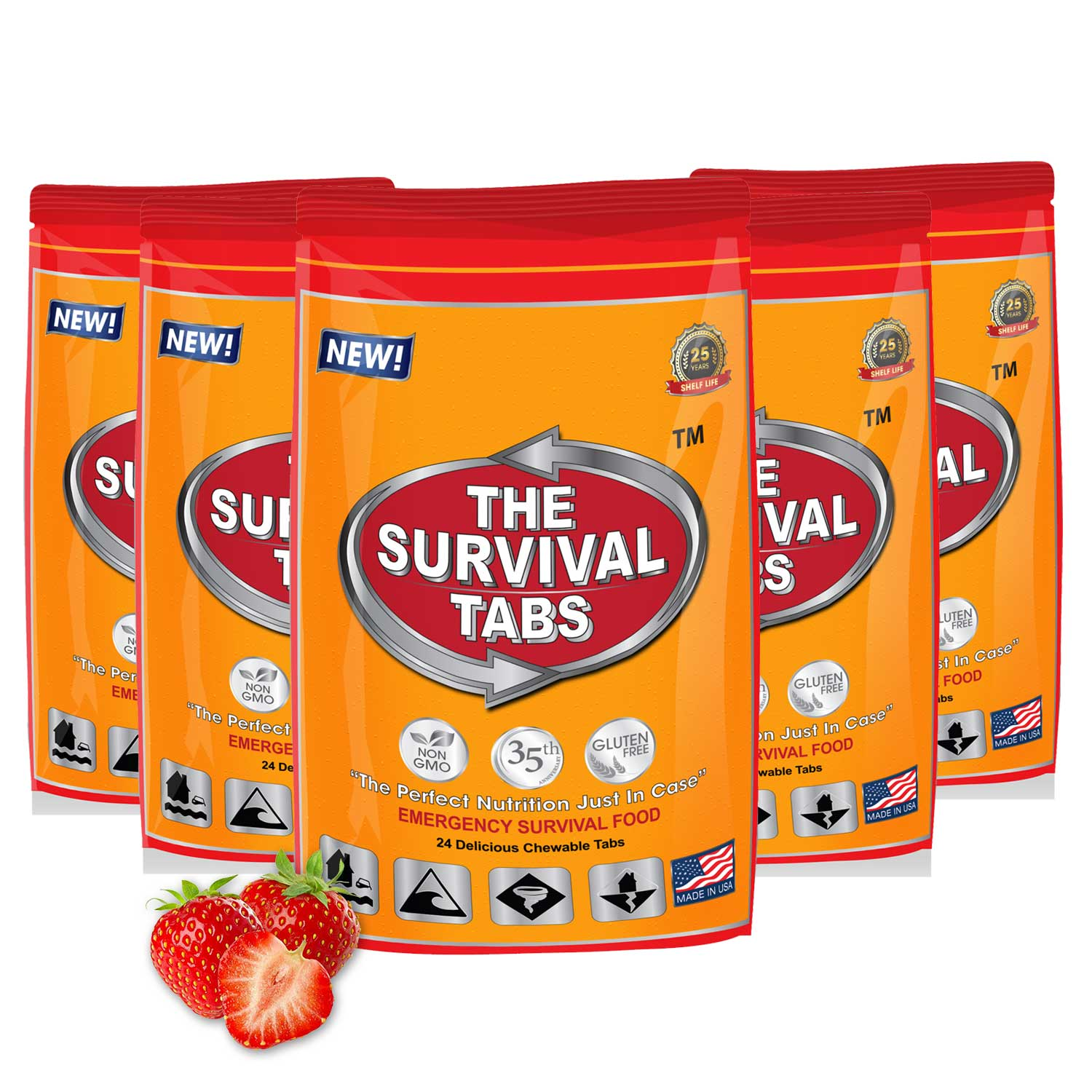 Click here to buy Survival Tabs 10 Day 120 Tabs Emergency Food Survival MREs Meal Replacement for Disaster Preparedness Gluten Free and Non-GMO 25 Years Shelf....