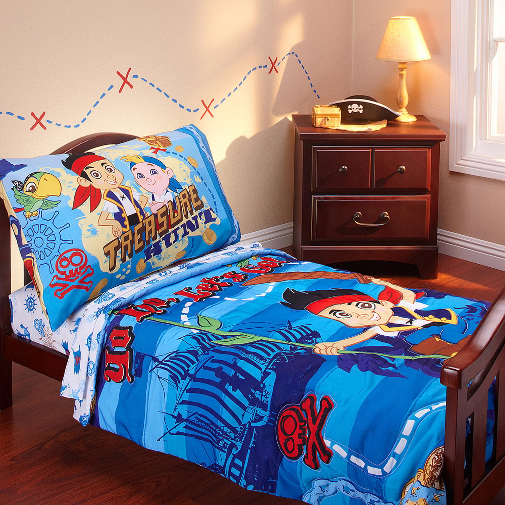 Disney - Jake & Neverland Pirates 3pc Toddler Bedding Set with BONUS Matching Pillow Case
