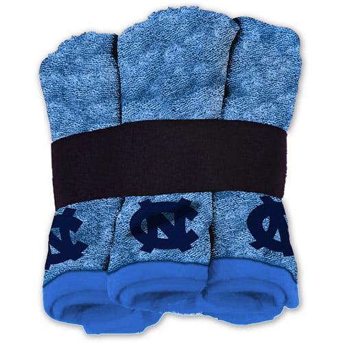 NCAA North Carolina Tarheels Wash Cloth Set, 6pk