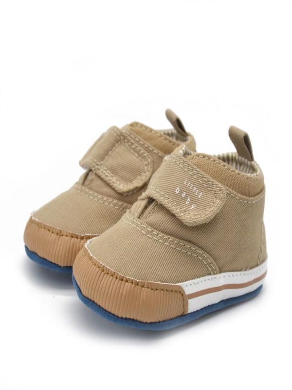 Baby Baby Toddler High Crib Soft Sole Boys Ankle Sneaker Canvas Shoes