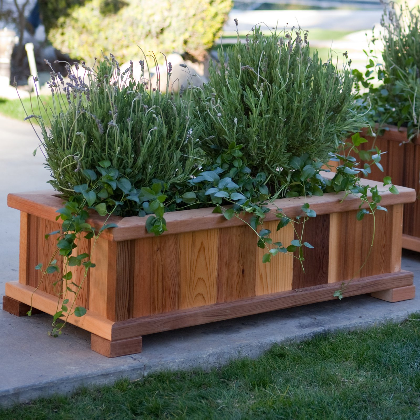 Wood country rectangle cedar wood boise patio planter box walmart com