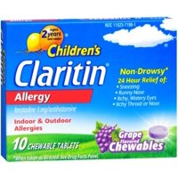 CLARITIN Children's Allergy Chewable Tablets Grape Flavored 10 Tablets (Pack of 2)