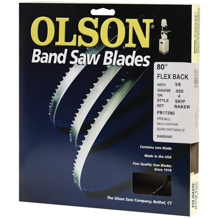 Bandsaw Blade, 3/8 x 80-In., 4-TPI (Carter Band Saw Blades)