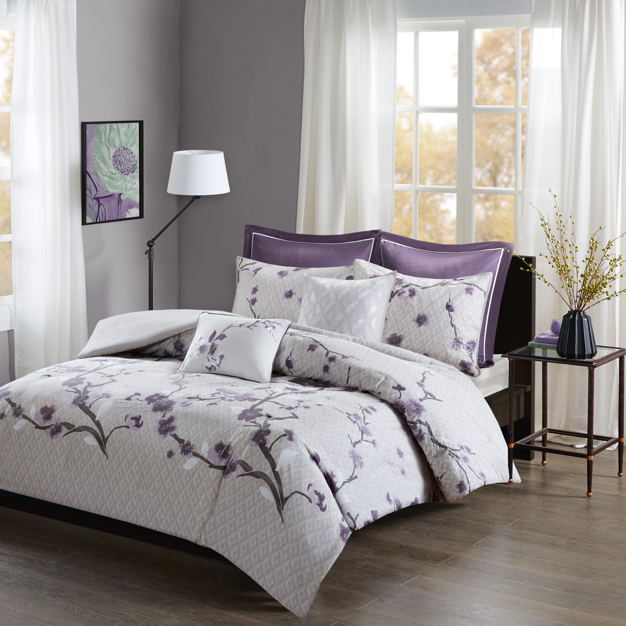 Home Essence Sakura 7 Piece Cotton Duvet Cover Set