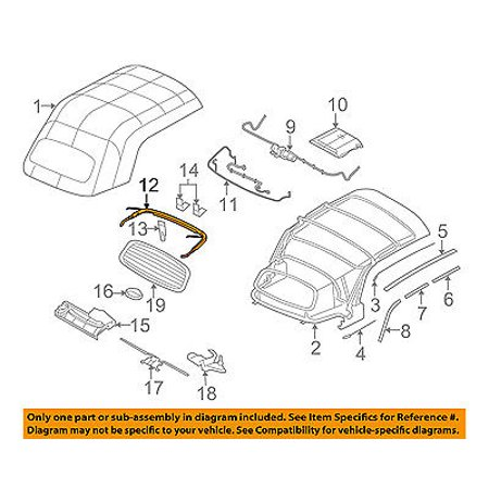 chrysler oem 05-08 pt cruiser convertible/soft top-seal 5127353aa -  walmart com