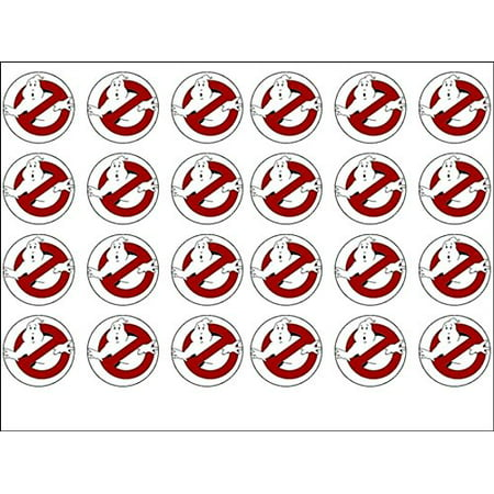 24 Ghostbusters Edible Wafer Paper Cup Cake Toppers by CakeThat - Ghostbusters Decorations