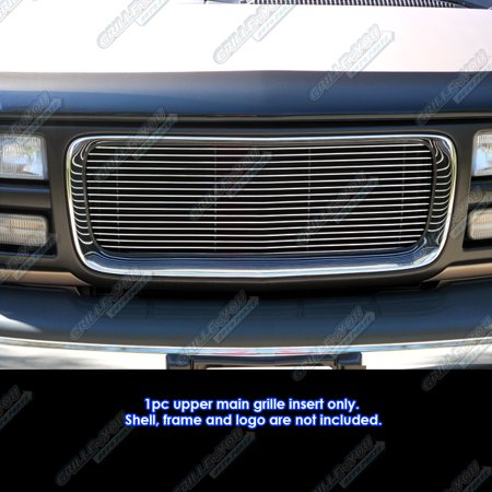 Compatible With 96-2002 97 98 99 01 2000 2001 GMC Savana Cargo Van 1500/2500/3500 Billet Grille #G85485A
