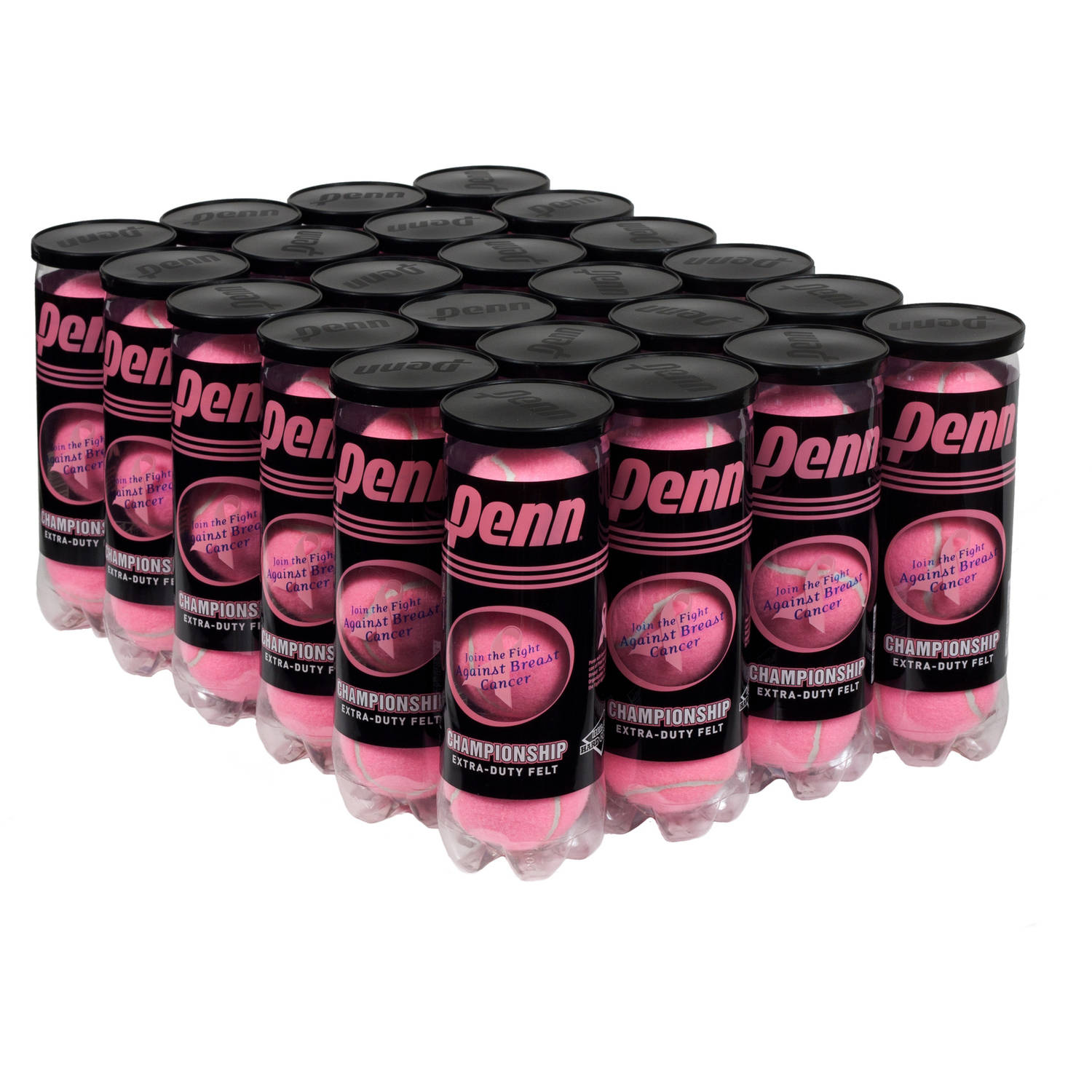 Penn Championship Extra Duty Pink Tennis Ball Case (24 cans, 72 balls)