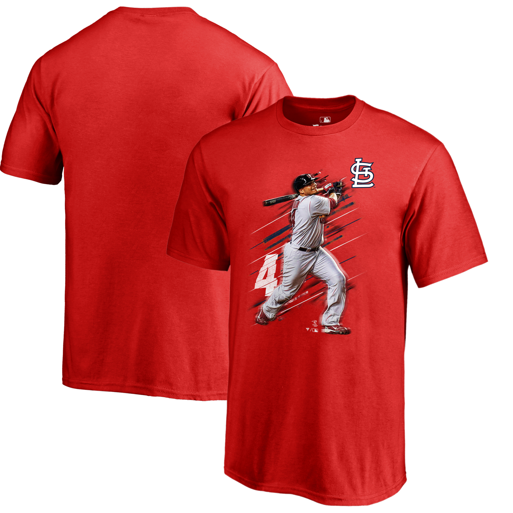 Yadier Molina St. Louis Cardinals Fanatics Branded Youth Fade Away T-Shirt - Red