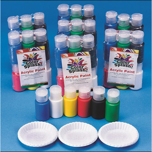 Color Splash! Acrylic Paint Pass Around Pack, 3/4 oz, Pack of 48