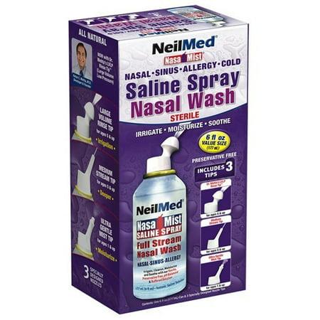 Neilmed Nasamist Saline Spray 6 Oz