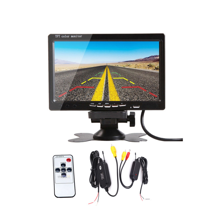 "7"" TFT Wireless LCD Monitor with AV Cable Video Transmitter Receiver"