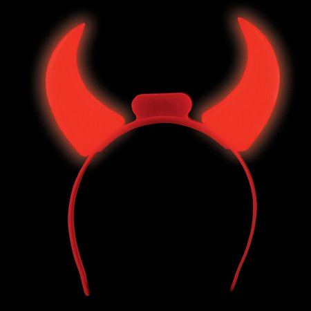 Lumistick LED Flashing Devil Horns Headband (Devil Horms)