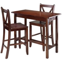Pemberly Row 3 Piece Counter Height Dining Set in Walnut